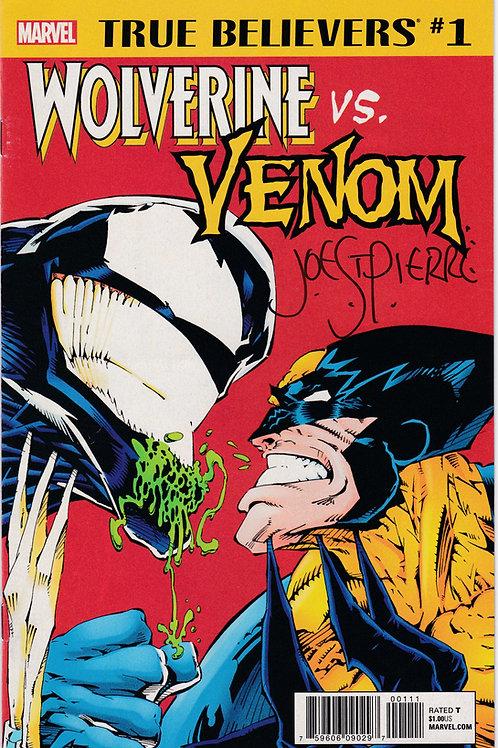True Believers Wolverine vs. Venom #1 Joe St Pierre Signed
