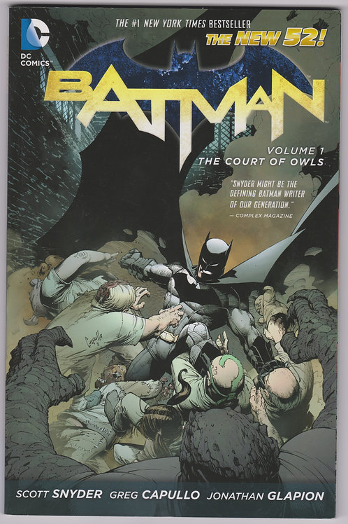 Batman The Court of Owls (New 52) Volume 1 Softcover Graphic Novel
