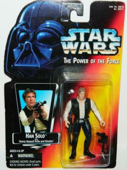 Star Wars Red Card Han Solo 1995 Power of the Force Action Figure