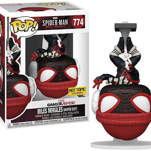 Funko Pop! Spider-Man Miles Morales (Winter Suit) Hot Topic Exclusive #774