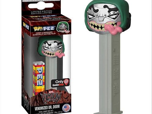 Funko Venomized Dr. Doom GameStop Exclusive Pop PEZ! Candy Dispenser (Silver)