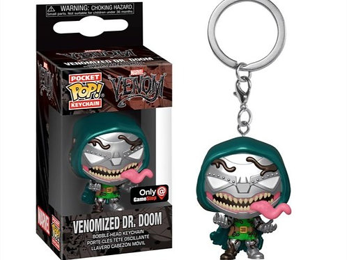 Funko Venomized Dr. Doom GameStop Exclusive Pocket Pop! Keychain [Chase]