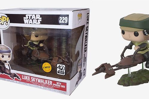 Funko Pop! Star Wars 40th Luke Skywalker (with Speeder Bike) CHASE Vinyl  # 229