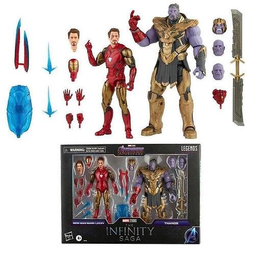 Marvel Legends Iron Man 85 vs. Thanos 6-Inch Action Figures