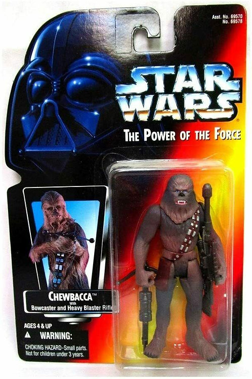Star Wars Red Card Chewbacca 1995 Power of the Force Action Figure