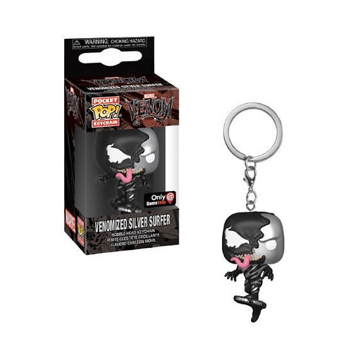 Funko Venomized Silver Surfer GameStop Exclusive Pocket Pop! Keychain