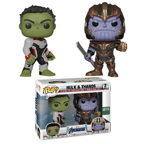 Funko Avengers Endgame Hulk & Thanos Barnes and Noble Exclusive 2-Pack Pop!