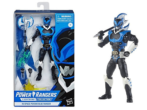 Power Rangers In Space Psycho Blue Ranger  Lightning Collection Action Figure