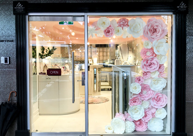 A lively spring window at Matthew Ely