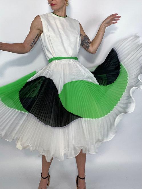 1960S LETTUCE RUFFLE DRESS