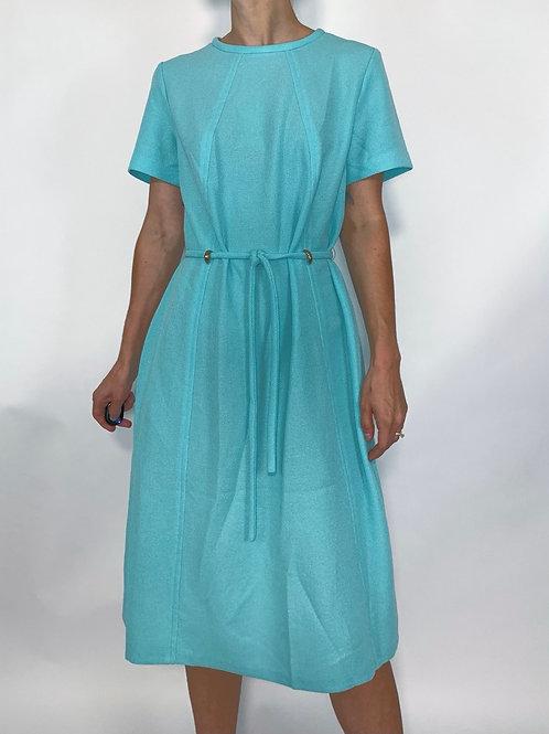 1960s BABY BLUE MOD DRESS