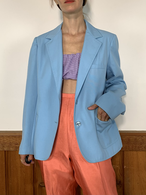 BABY BLUE FITTED BLAZER