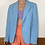 Thumbnail: BABY BLUE FITTED BLAZER