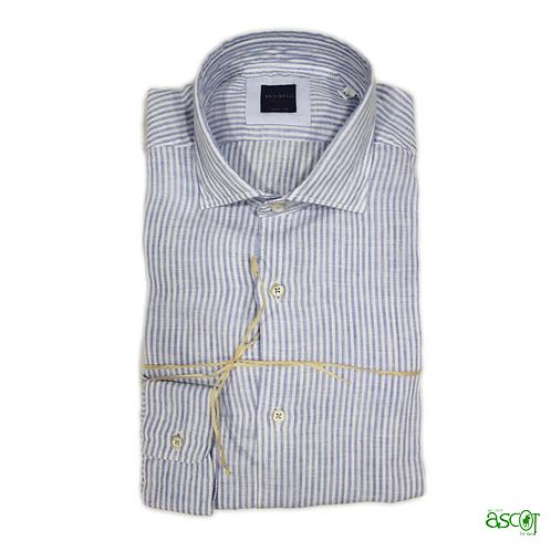 Light blue striped linen shirt