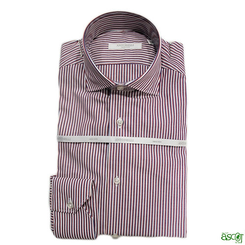 Antonelli shirt with red stripe