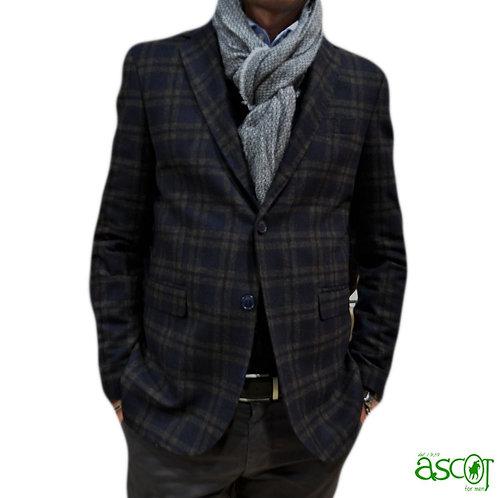 Giacca da uomo in lana a quadri