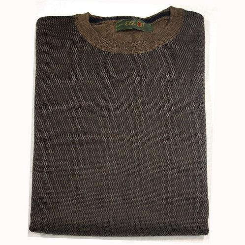 Maglione da uomo- giro collo, lana merinos