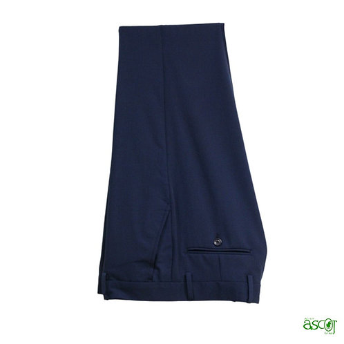 Pantaloni in fresco di lana bluette