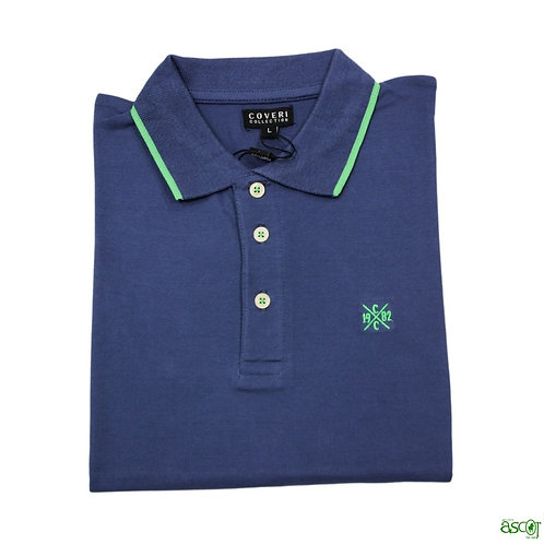 Solid color men's polo shirt