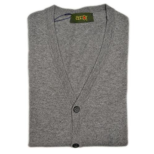 Men's cardigan in cashmere wool, button closure