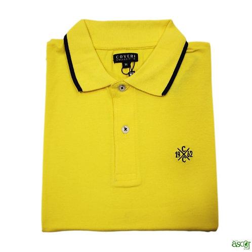 Solid color men's polo shirt