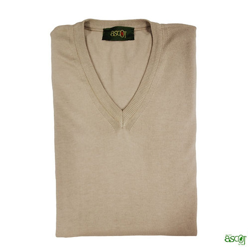 Men's sweater of the cotton with V-neck