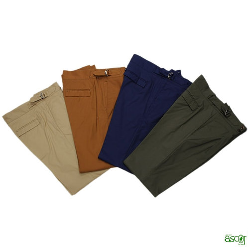 Summer men's trousers with high waist in cotton