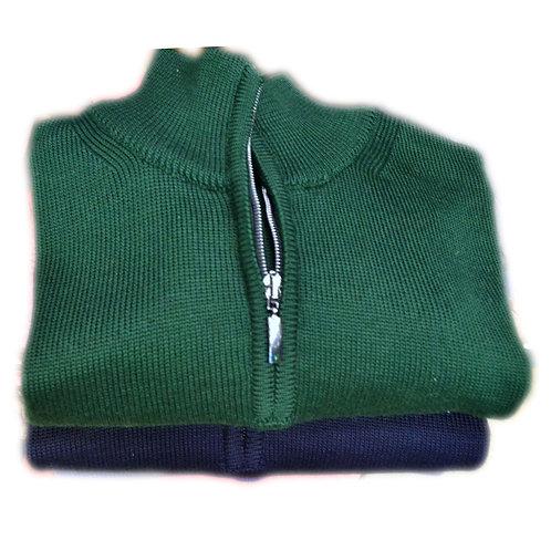Maglione da uomo  in lana mezza zip