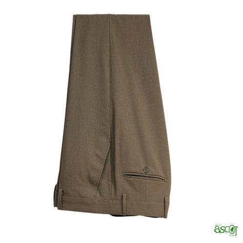 Pantaloni in fresco di lana-nocciola