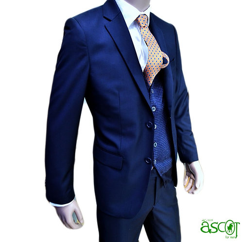 Man suit of the wool - cobalt color