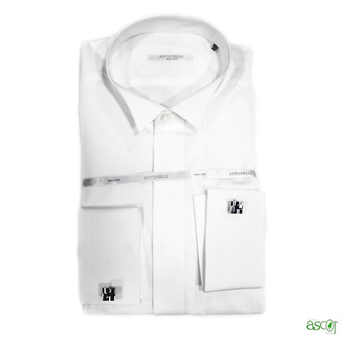 Diplomatic neck shirt with cufflinks