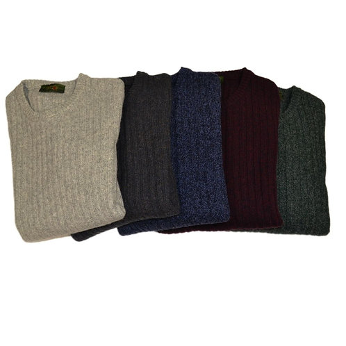 Men's wool sweater - round neck, available in different colors