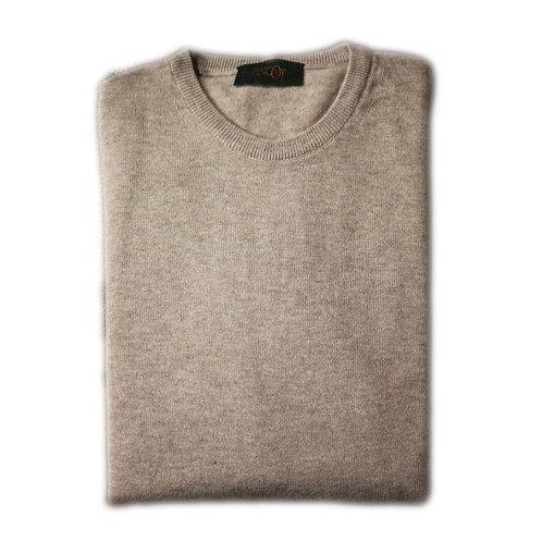 Round neck sweater in cashmere wool