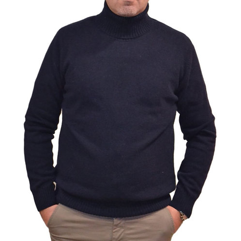 Men's sweater in wool with high collar. Available in different colors