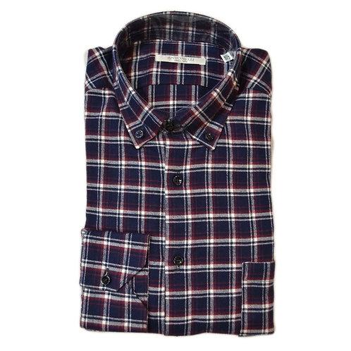 Camicia button down di  flanella a quadri