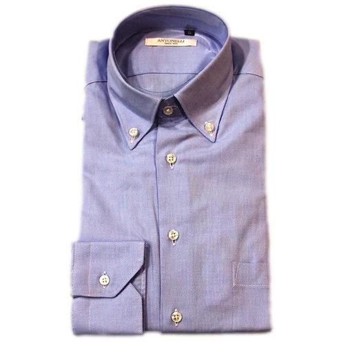 Camicia  celeste  button  down -  lavorazione  nido d'Ape