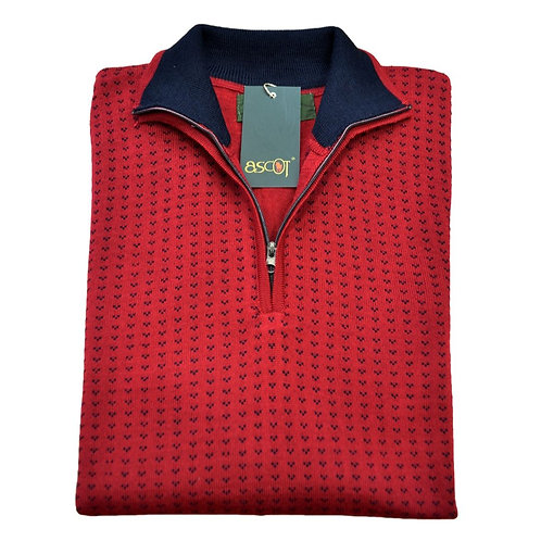 Maglione di lana Merinos  mezza zip