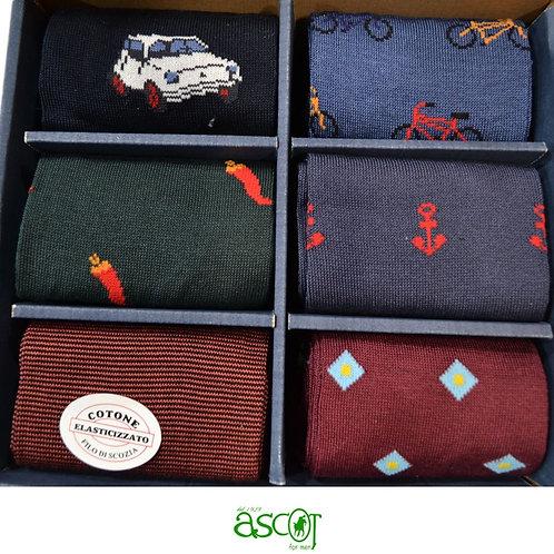 Confezione delle calze da uomo -  6 paia