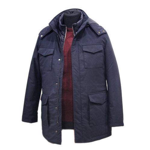Blue jacket with 4 pockets, sleeveless vest