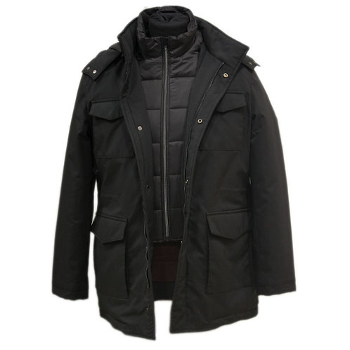 Black jacket with sleeveless vest