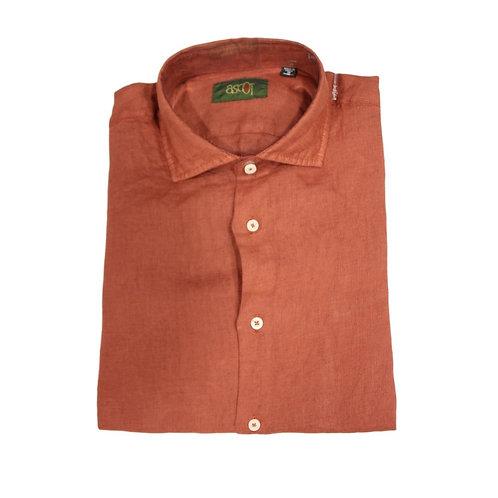 Camicia di  lino  coccio