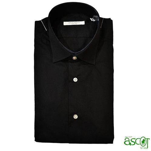 Camicia nera di cotone