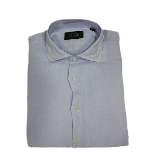 Camicia di  Lino celeste