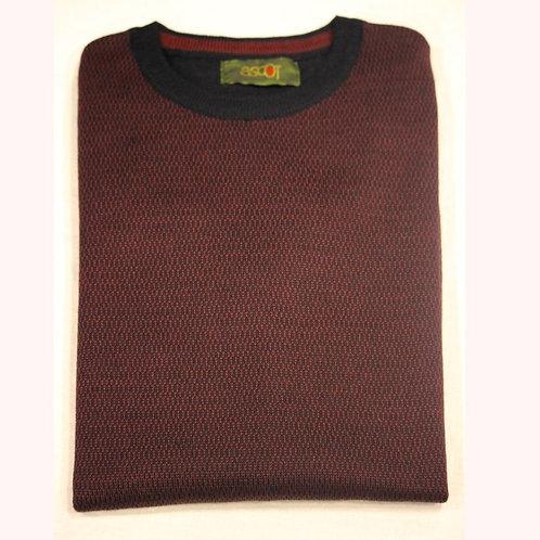 Maglione da uomo bordo- giro collo, lana merinos