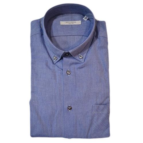 Camicia button down di cotone caldo celeste