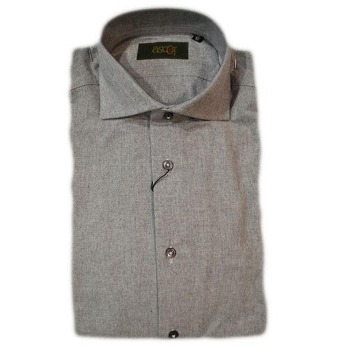 Camicia  di  flanella da uomo  -  colore grigio