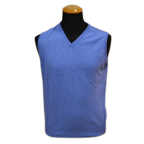 Sleeveless gilet in cashmere wool