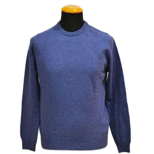 Lambswool men's sweater - round neck