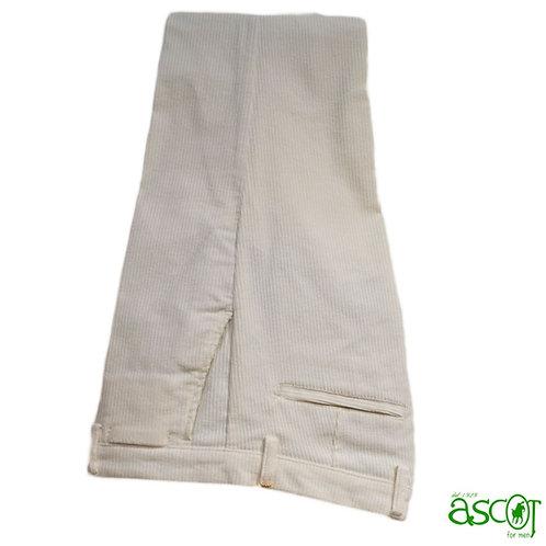 Velvet trousers -Vespucci white