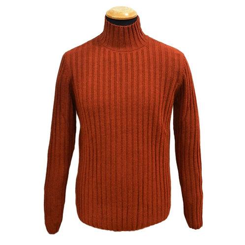 Mock-neck sweater in wool